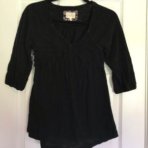 Deletta [Anthropologie] 3/4 sleeve ruched top